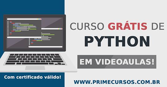 Curso De Programacao Em Python Online Gratis Prime Cursos