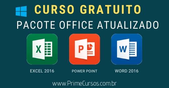 Curso De Pacote Office Online Gratis Prime Cursos