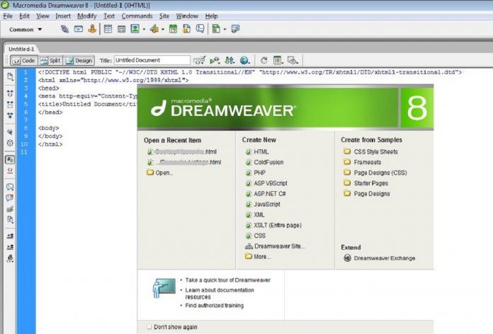 Dreamweaver ajuda pessoas lidam websites