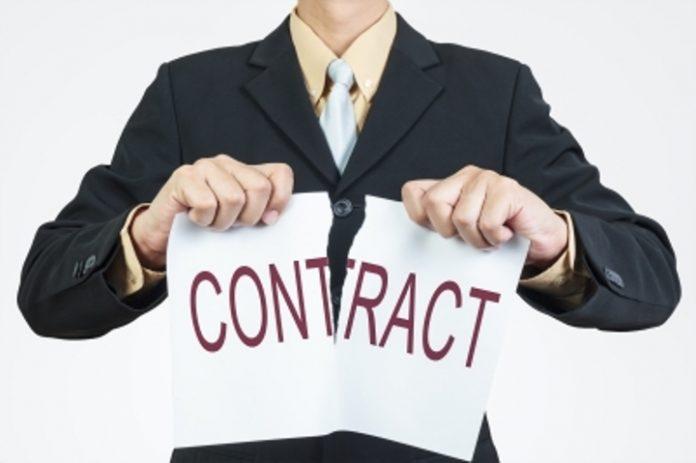 contrato rompido