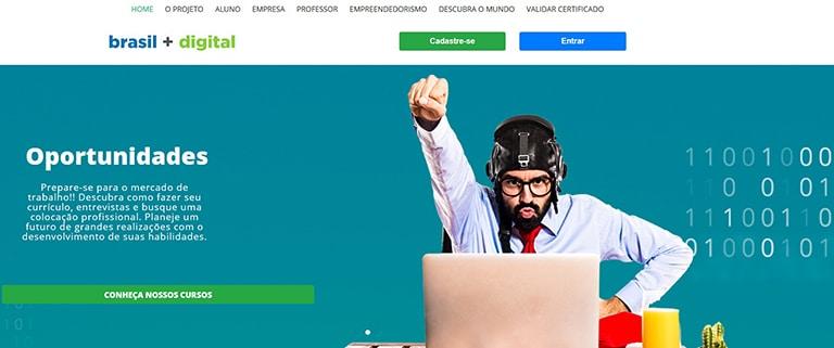 O site oferece diversos cursos na área de TI - tecnologia da informação!