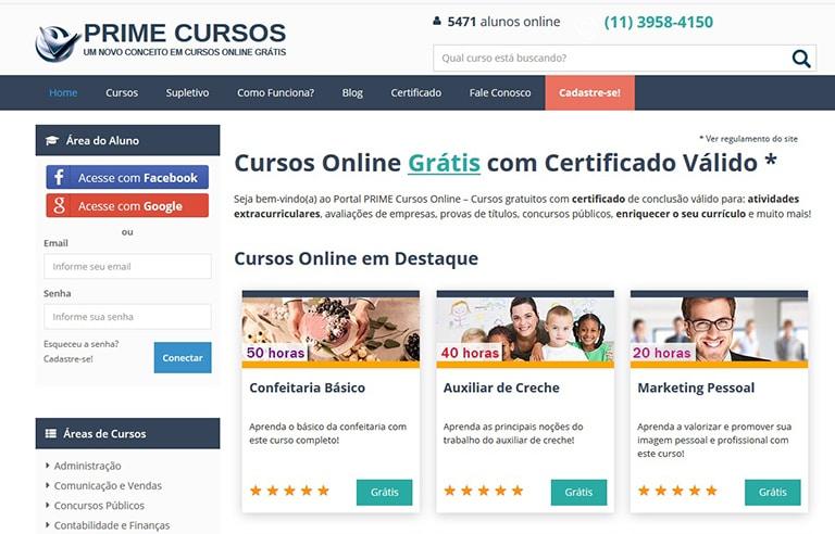 10 Sites Que Oferecem Cursos Online Gratuitos Prime Cursos