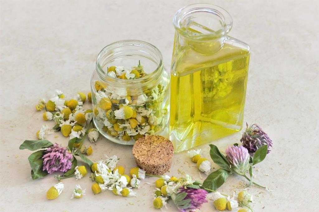óleos essenciais para aromaterapia camomila e lavanda